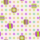 Seamless geometric pattern of squares Stock Images