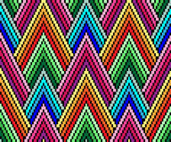 Seamless geometric pattern in the style of pixel art. African motif, boho. Royalty Free Stock Photography