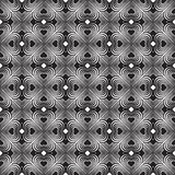 Seamless geometric pattern with stylized hearts. Repeating vinta Royalty Free Stock Photography