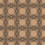 Seamless geometric pattern with stylized hearts. Stock Photo