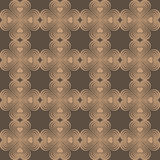 Seamless geometric pattern with stylized hearts. Royalty Free Stock Images