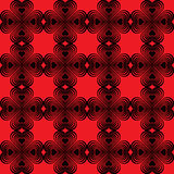 Seamless geometric pattern with stylized hearts. Stock Photos
