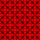 Seamless geometric pattern with stylized hearts. Royalty Free Stock Photos
