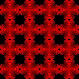 Seamless geometric pattern with stylized hearts. Stock Photography