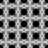 Seamless geometric pattern with stylized hearts. Stock Image