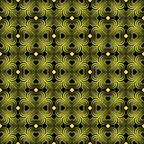 Seamless geometric pattern with stylized hearts. Royalty Free Stock Photography