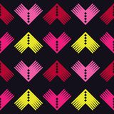 Seamless geometric pattern. The texture of the corners. Scribble texture. Textile rapport Royalty Free Stock Photos