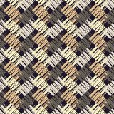 Seamless geometric pattern. Texture from figured strips. Scribble texture. Textile rapport Stock Photo