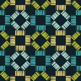 Seamless geometric pattern. Texture from figured strips. Scribble texture. Textile rapport Stock Image