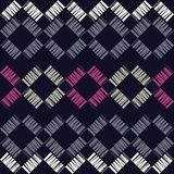 Seamless geometric pattern. Texture from figured strips. Scribble texture. Textile rapport Royalty Free Stock Images