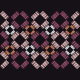 Seamless geometric pattern. Texture from figured strips. Scribble texture. Textile rapport Royalty Free Stock Photos