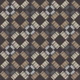 Seamless geometric pattern. Texture from figured strips. Scribble texture. Textile rapport Stock Images