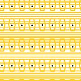 Yellow geometrical seamless pattern.  trendy print. hand drawn abstract doodling background. Seamless geometric pattern. The texture of lines and dots. Scribble Stock Images