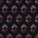 Seamless geometric pattern. The texture of the stripes at dots. Scribble texture. Textile rapport Royalty Free Stock Photo