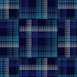 Seamless geometric pattern. The texture of the strips at points. Scribble texture. Textile rapport Stock Image