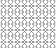Seamless geometric pattern in thin lines Stock Photography
