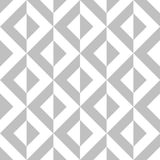 Seamless Geometric Pattern Tile Vector. Triangular Silver and White Colors Form Diamond Shape Stock Photography