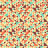 Seamless geometric pattern with triangle. Can be used in textiles, for book design, website background Stock Image