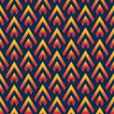 Seamless geometric pattern of triangles. Shades and tints. Bright colors Stock Photos