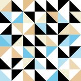 Seamless geometric pattern with triangular elements Stock Photography