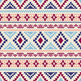 Seamless geometric pattern with tribal motifs. Ethnic ornament. Vector illustration Stock Images