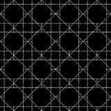 Seamless geometric pattern. Vector background in black and white color stock illustration
