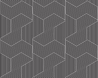 Vector abstract repeating classical background in black and whit Stock Image
