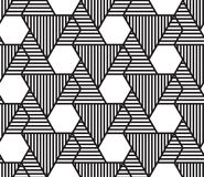 Vector abstract repeating classical background in black and whit Royalty Free Stock Images