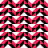 65-2. Seamless Geometric Pattern. Vector Black and Red Texture Vector Illustration