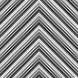 Seamless Geometric Pattern. Vector Black and White Wrapping Pape Royalty Free Stock Images