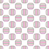 Seamless geometric pattern vector design vintage retro background abstract art with colorful horizontal and vertical lines stripes. In curved square shape Stock Illustration