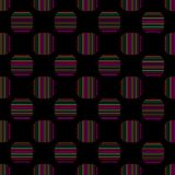 Seamless geometric pattern vector design vintage retro background abstract art with colorful horizontal and vertical lines stripes. In curved square shape Vector Illustration