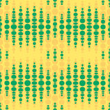 Seamless geometric pattern. Vertical wavy dots. Royalty Free Stock Image