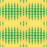Seamless geometric pattern. Vertical wavy dots. Royalty Free Stock Image