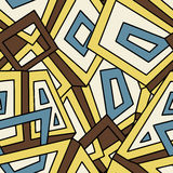 Seamless geometric pattern in vintage style. For fashion, textile, cloth, backgrounds. Vector ornament. Decorative tiles. Royalty Free Stock Photo
