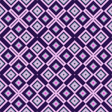 Seamless geometric pattern in violet spectrum Stock Images