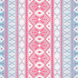 Seamless geometric pattern. Watercolor texture. Pink and blue  Royalty Free Stock Photos