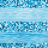 Seamless geometric pattern with waves. Marine abstract  backgrou Royalty Free Stock Images