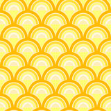 Seamless geometric pattern with waves in retro style. Royalty Free Stock Photos