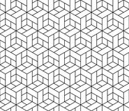Seamless Geometric Pattern With Cubes. Royalty Free Stock Photography