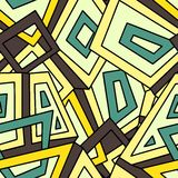 Seamless geometric pattern in in yellow and green tones. Khaki. For fashion textile, cloth, backgrounds. Royalty Free Stock Photos