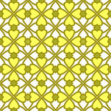 Seamless geometric pattern yellow hearts illustration ornamental Royalty Free Stock Photography