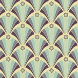 Seamless geometric pattern in yellow-violet colors Royalty Free Stock Photos
