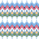 Seamless geometric pattern with zig zags textiles design retro b Royalty Free Stock Photo