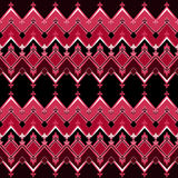 Seamless geometric pattern with zig zags textiles design retro b Royalty Free Stock Image