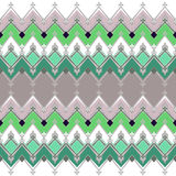 Seamless geometric pattern with zig zags textiles retro texture Royalty Free Stock Photo