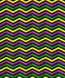 Seamless geometric pattern with zigzag stripes. Suitable for packaging, wrapping paper, wallpaper on Mardi Gras celebration. Stock Photo