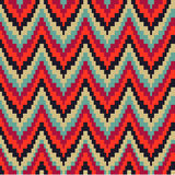 Seamless geometric pattern in zigzags Royalty Free Stock Image