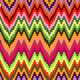 Seamless geometric pattern in zigzags Royalty Free Stock Images