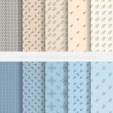 Seamless geometric patterns Stock Photography
